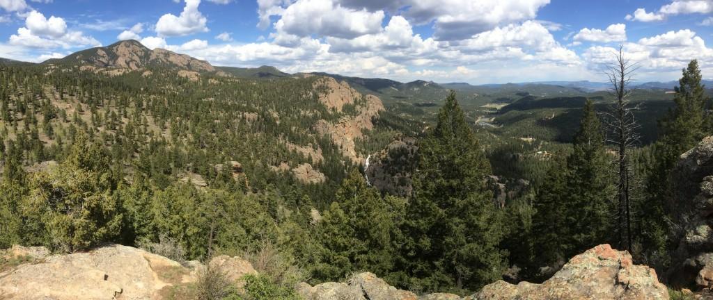 Elk Falls Overlook view
