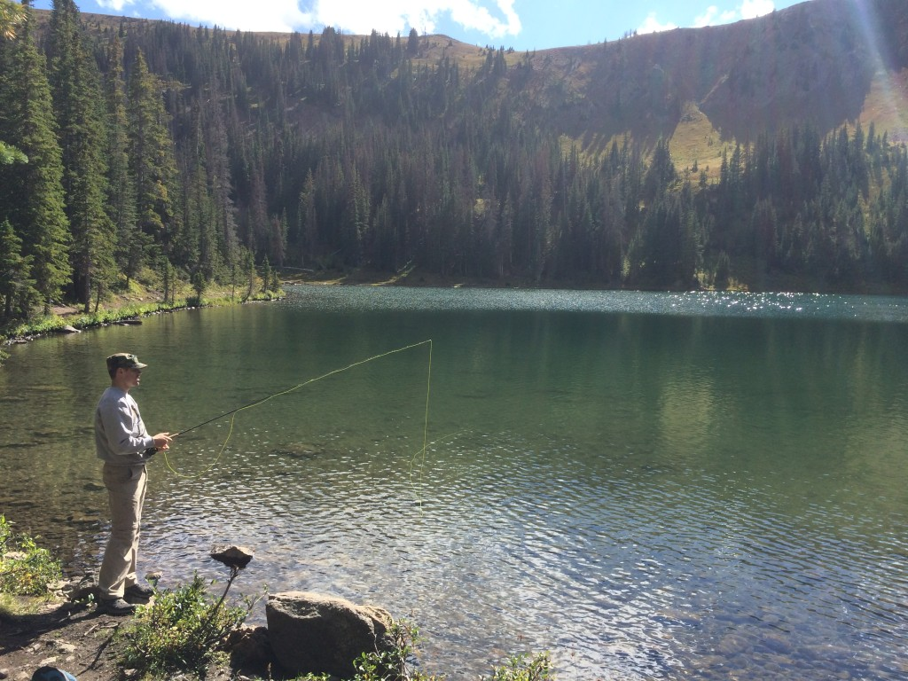 Fishing in Bowen Lake