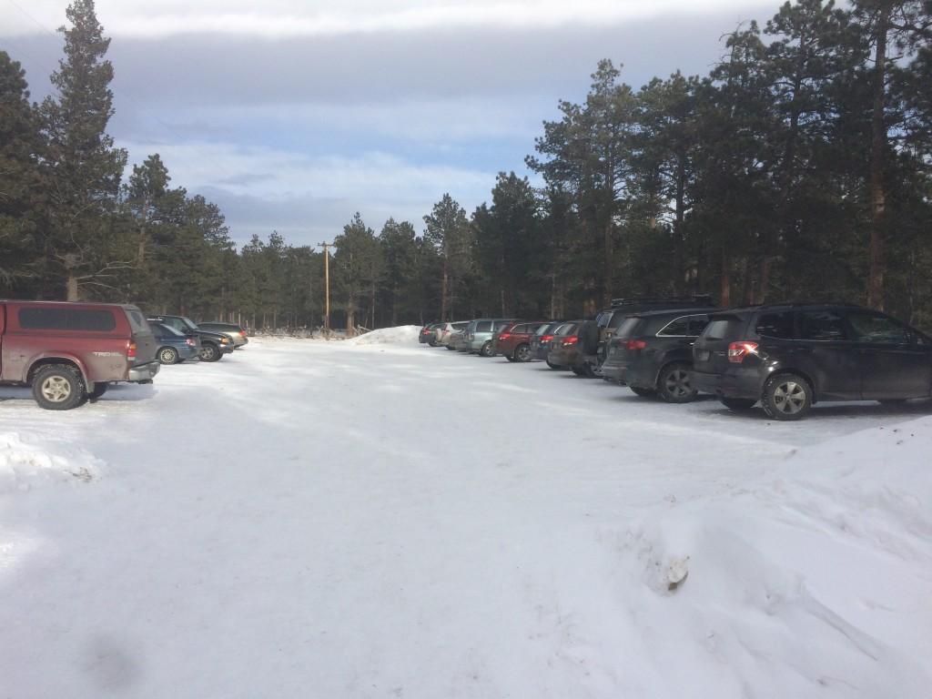 Wild Basin winter parking area