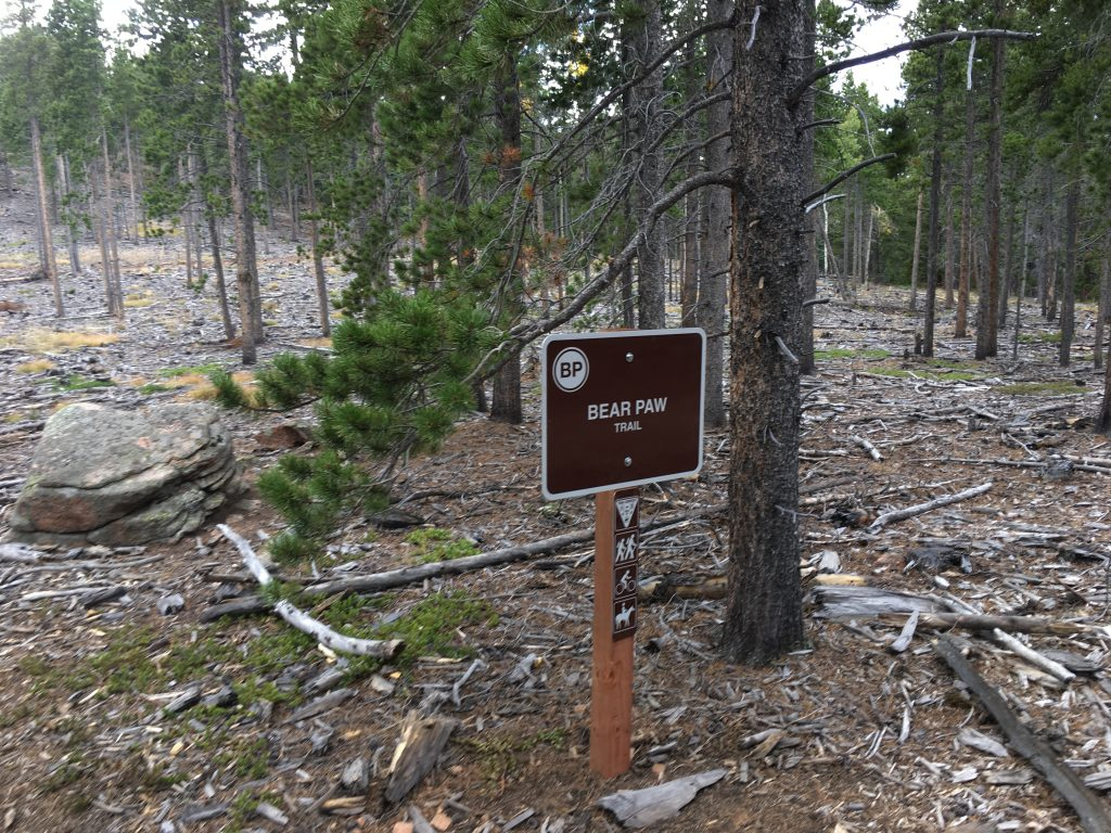 Bear Paw Loop Sign